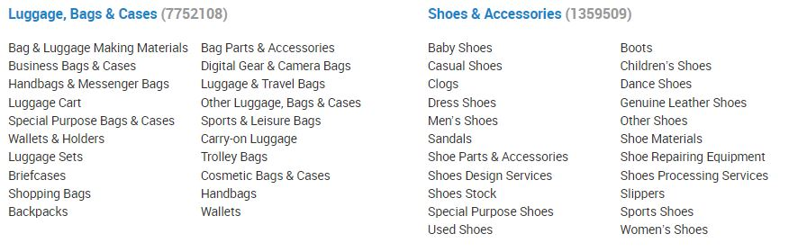Alibaba Wholesale: Bags, Shoes, Accessories
